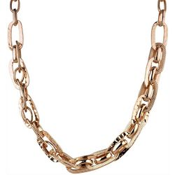 Wearable Art By Roman Rose Gold Tone Oval Link Necklace
