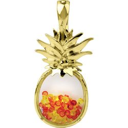 Wearable Art By Roman Crystal Elements & Pineapple Pendant