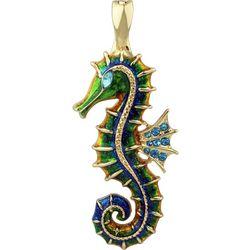 Wearable Art By Roman Enamel Seahorse Pendant