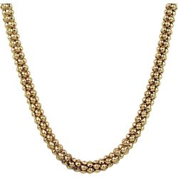 Wearable Art By Roman Gold Tone Large Texture Curb Necklace
