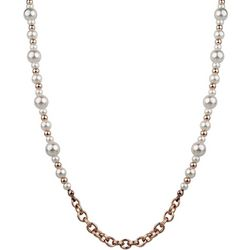 Wearable Art By Roman Rose Gold Tone Faux Pearl Necklace