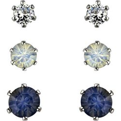 Roman 3-pc. Rhinestone Stud Earring Set