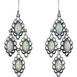Roman Faux Opal Kite Chandlier Earrings