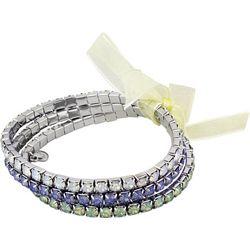 Roman 3-pc. Rhinestone Stretch Bracelet Set