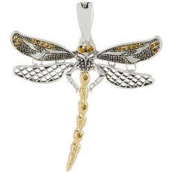Wearable Art By Roman Two Tone Dragonfly Pendant