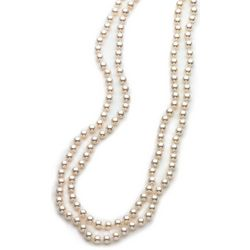Roman 60 in. 8mm Cream Faux Pearl Necklace