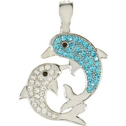 Wearable Art By Roman Double Dolphins Pendant
