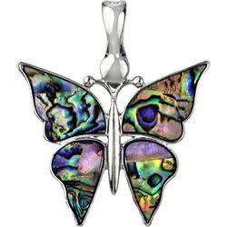 Wearable Art By Roman Abalone Butterfly Pendant