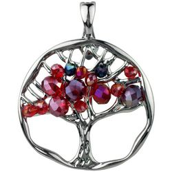 Wearable Art By Roman Red Beaded Family Tree Pendant