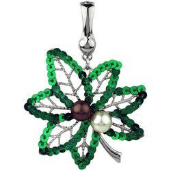 Wearable Art By Roman Green Maple Leaf Pendant