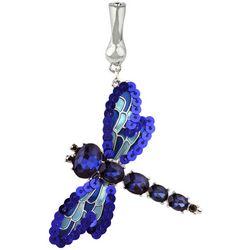 Wearable Art By Roman Blue Multi Dragonfly Pendant