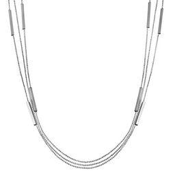 Wearable Art By Roman Triple Row Fine Ball Chain Necklace