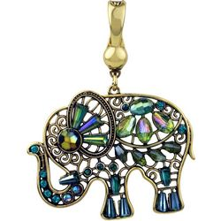 Wearable Art By Roman Beads & Stones Elephant Pendant