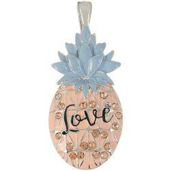 Wearable Art By Roman Enamel Love Pineapple Pendant