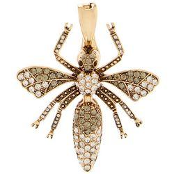 Wearable Art By Roman Rhinestone Wasp Bee Pendant