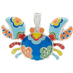 Wearable Art By Roman Colorful Crab Pendant
