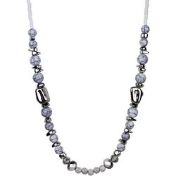 Wearable Art By Roman White Beaded Necklace