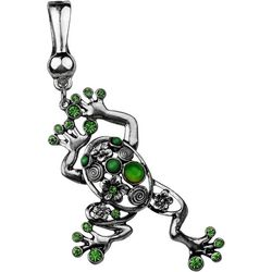 Wearable Art By Roman Leaping Frog Pendant