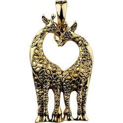 Wearable Art By Roman Double Giraffe Pendant