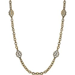 Wearable Art By Roman Long Filigree Chain Necklace