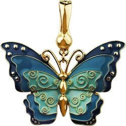 Wearable Art By Roman Enamel Butterfly Pendant