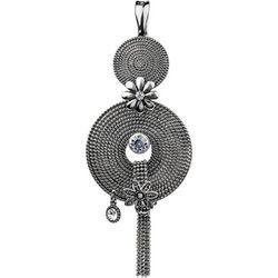 Wearable Art By Roman Textured Medallion Pendant