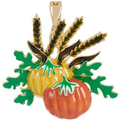 Wearable Art By Roman Double Harvest Pumpkin Pendant
