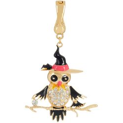 Wearable Art By Roman Halloween Witch Owl Pendant