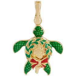 Wearable Art By Roman Holiday Wreath Turtle Pendant