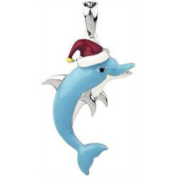 Wearable Art By Roman Holiday Santa Dolphin Pendant