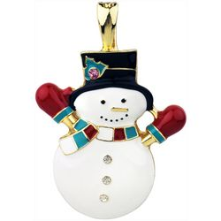 Wearable Art By Roman Holiday Snowman Pendant