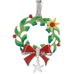 Wearable Art Holiday Starfish Wreath Pendant