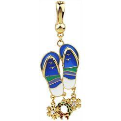 Wearable Art By Roman Holiday Beachy Flip Flop Pendant