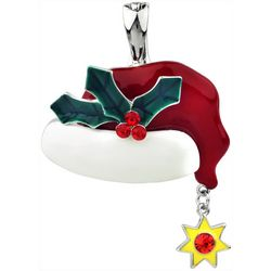 Wearable Art By Roman Holiday Santa Hat Pendant