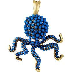 Wearable Art By Roman Blue Octopus Pendant