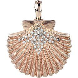 Wearable Art By Roman Rose Gold Tone Shell Pendant