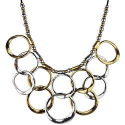 Bella UNO Two Tone Multi Ring Collar Necklace
