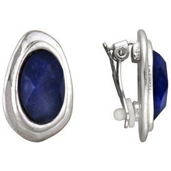 Bella UNO Sodalite Blue Bead Clip On Earrings