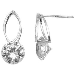 HOWARD'S Marquis Post Top With CZ Drop Earrings