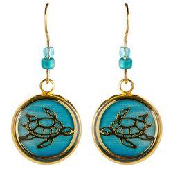 BLUESTONE Sea Turtle & Resin Dome Drop Earrings