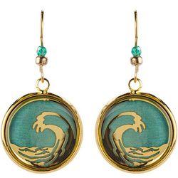 BLUESTONE Ocean Wave & Resin Dome Drop Earrings