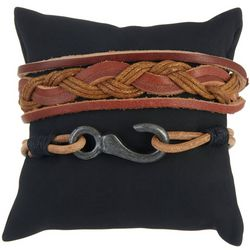 Maori Hook Mens 2-pc. Hook & Braided Bracelet Set