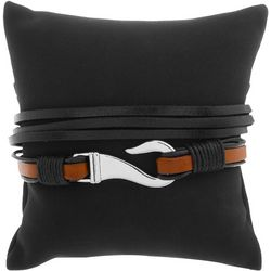 Maori Hook Mens 2-pc. Hook & Black Bracelet Set