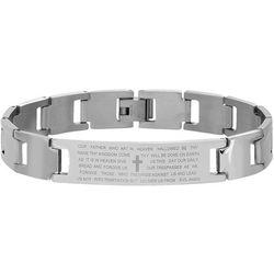 1913 Mens Lord's Prayer Stainless Steel Link Bracelet