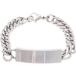 1913 Mens Stainless Steel ID Plate Curb Chain