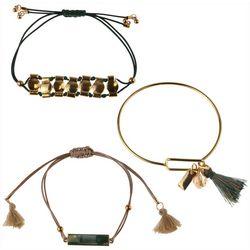 MAX STUDIO Trio Friendship & Bangle Bracelet Set