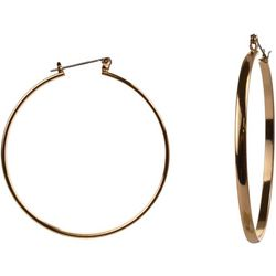 MAX STUDIO 54mm Thin Gold Tone Hoop Earrings