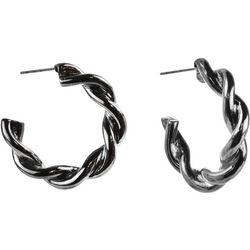 MAX STUDIO Thick Twisted C Hoop Earrings