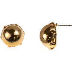MAX STUDIO Gold Tone Ball Cabochon Stud Earrings