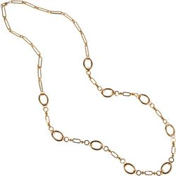 MAX STUDIO Long Gold Tone Open Link Necklace
